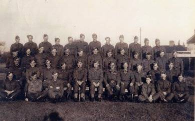 Itteringham Home Guard (+ other volunteers) on Aldborough Green.