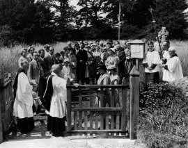 Dedication of the new church gates in the late '50s