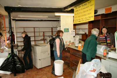 Moving the shop to the village hall 28th February 2004