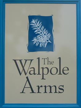 Walpole Arms sign