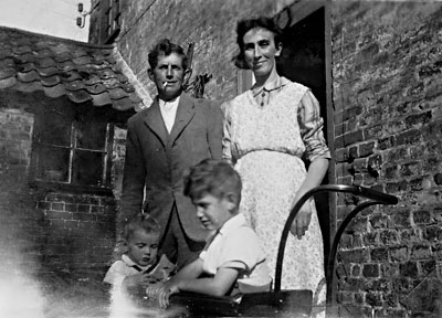 Mr & Mrs Lake with Tommie & Mary at White House Farm 1942
