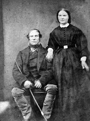 Jeremiah Bell with daughter Mary Ann Bell c.1890